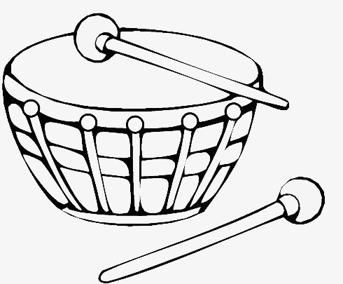 A Picture Of Drum Black White Sketch Png Image And Clipart