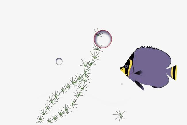 poisson plat un violet cool bulle algues image png pour le t u00e9l u00e9chargement libre