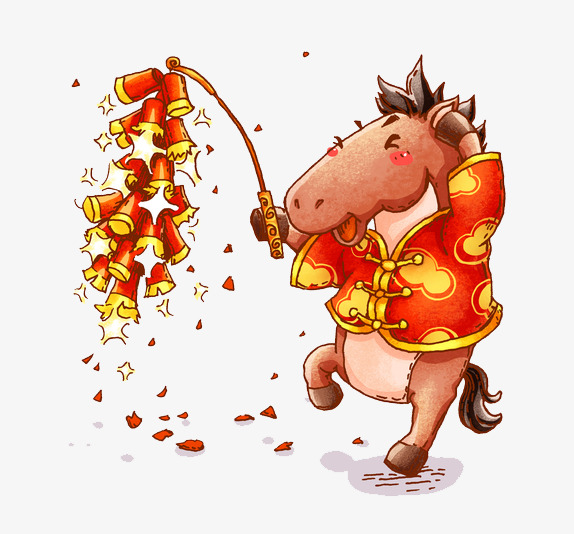 a small firecracker setting horse horse clipart new year joy png image and
