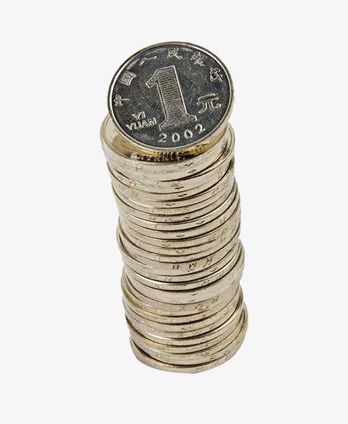 Ein Stapel 1 Dollar Münze Material Sachleistungen 1 Dollar Münzen
