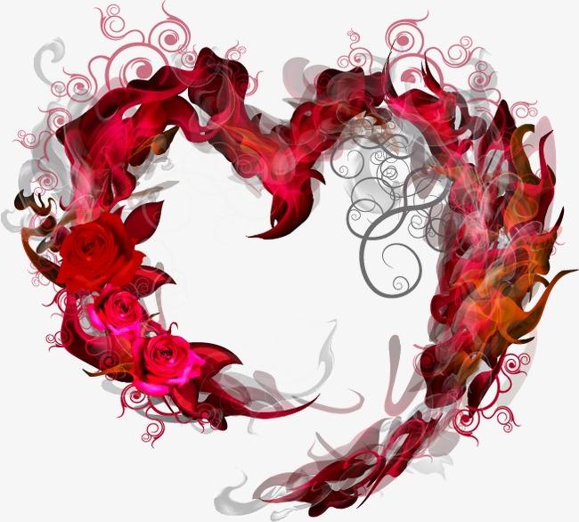 Abstract Red Rose Patron En Forma De Corazon Rojo Resumen Rosa En ...