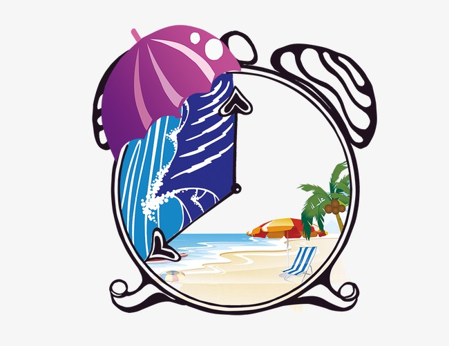 Alarm Clock Beach Ocean Png And Psd