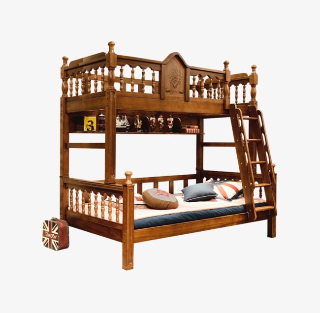 American Children S Bunk Bed Bunk Beds A Combination Of Walnut Bed