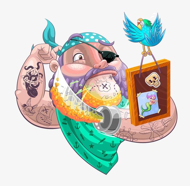 Gambar Bajak Laut Kartun