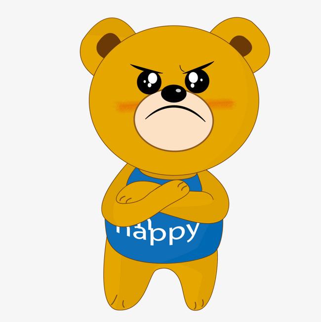 Sombong Little Bear Sombong Little Bear Kartun Png Dan Vektor Untuk