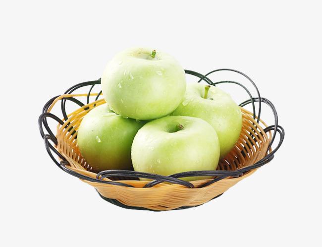 basket of apples four apples qingping fruit apple crisp png image