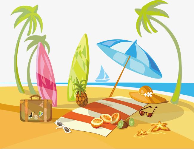 Beach Landscape, Landscape Clipart, Beach, Sea PNG ...