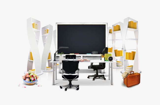 Beautiful Office Interior Real, Office Clipart, Indoor, Office PNG Image  And Clipart