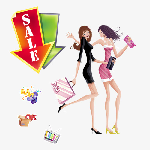 Dessin Shopping beauty shopping, cartoon, beauty, shopping png and psd file for free