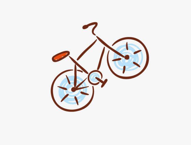 Una Caricatura Di Biciclette La Bicicletta Una Caricatura Di Vettore