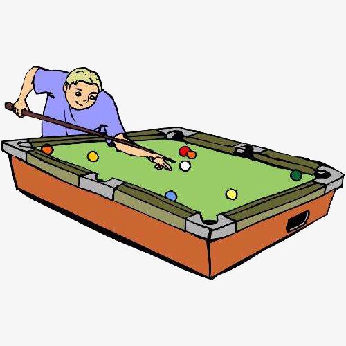 Billiards Table Cartoon Free To Pull Transparent Material