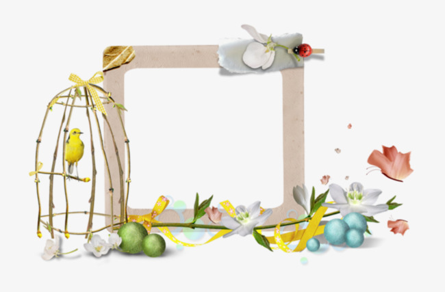 Birdcage Decorative Borders, Frame, Cartoon, Vector PNG ...