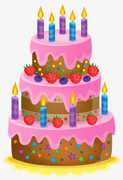Birthday Cake With Candles Cake Clipart Birthday Clipart Candle