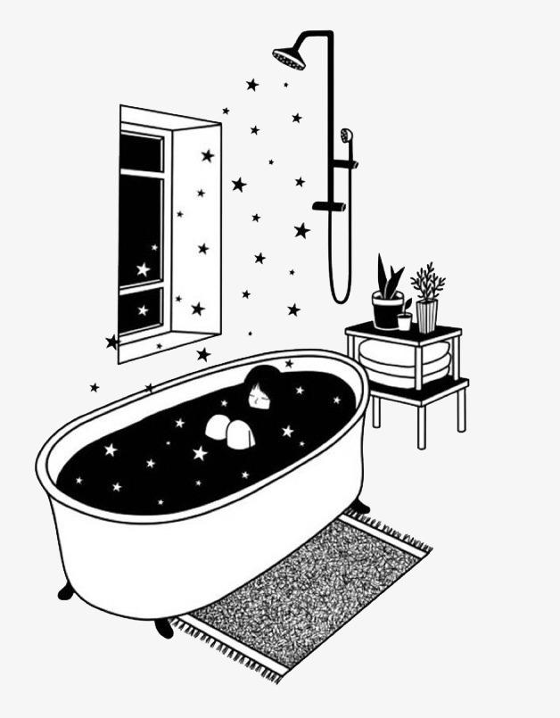 Cuarto De Baño Blanco Y Negro Pintado A Mano Cuarto De ...