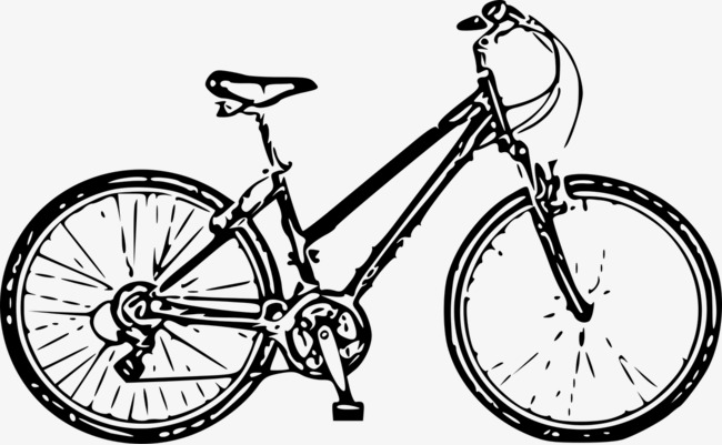 Black And White Bicycle Bicycle Physical Education Cycling PNG