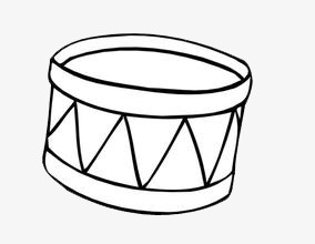 Black And White Drums Drum Musical Instruments Png Image