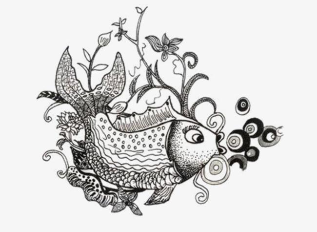 Blanco Y Negro Pequeños Peces Illustrator Ilustración Peces Pequeños