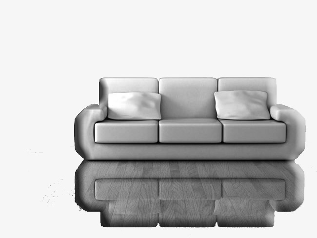 Black And White Sofa Sofa Furniture Pillow Png Image And Clipart