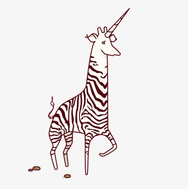 Black And White Striped Giraffe Giraffe Clipart Black And White