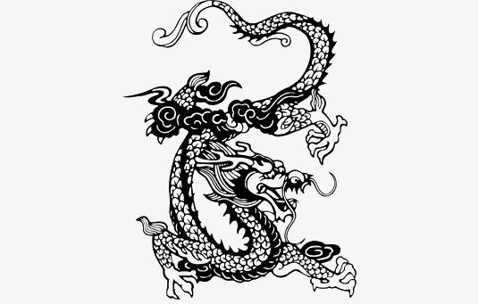 Black Dragon Graphics, Dragon Clipart, Classical, Dragon PNG Image ...