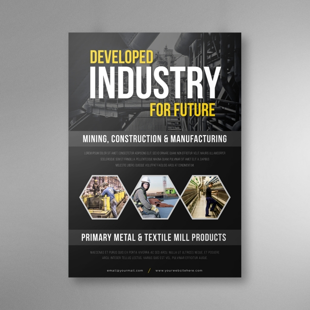 black industrial flyer design Template for Free Download on Pngtree