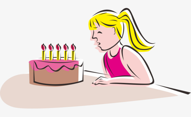 Blow Out The Candles Image Birthday Candle PNG And Vector