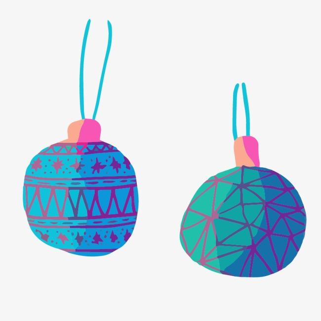 Blue And Purple Decorative Balls Blue Vector Decoration Balls Best Purple Decorative Balls