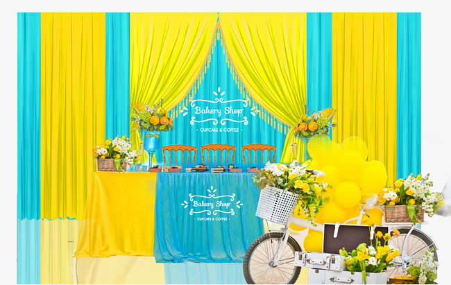 Blue And Yellow Wedding Decoration, Wedding Set, Wedding, Wedding ...