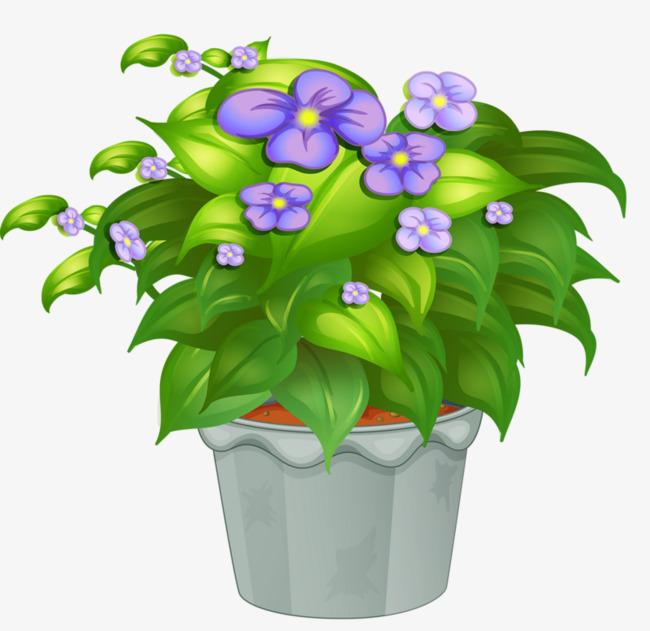 Blue Flower Pot, Flower Clipart, Pot Clipart, Potpourri ...