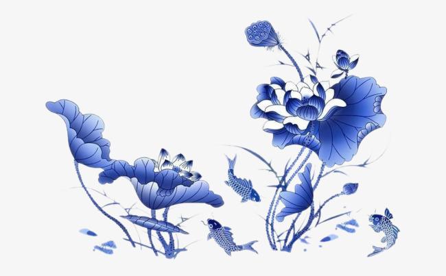 La Fleur De Lotus Bleu De Poissons Bleu Fleur Lotus Image Png Pour