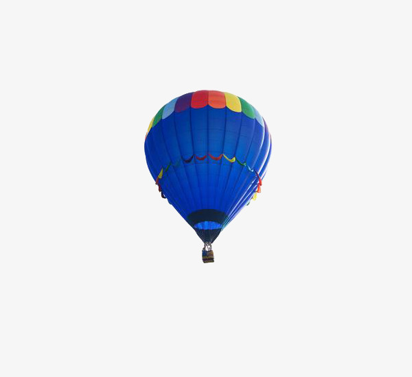 Blue Hot Air Balloon Clipart Pattern PNG Image And
