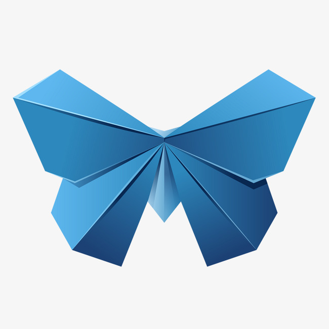 Blue Origami Bows Blue Vector Bow Tie Origami Png And Vector For