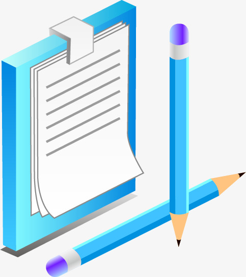Blue Pencil And Notebook Notebook Clipart Notebook Pencil Png And