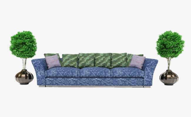Sofa Azul Verde Planta Sofa Imagen Png Para Descarga Gratuita