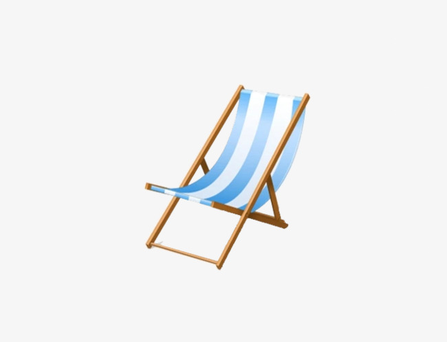 Blue Striped Beach Chair Stripe Png Image And Clipart