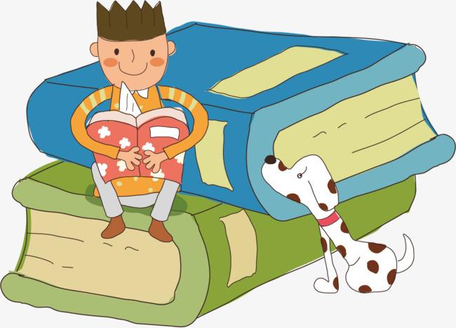Kartun Buku Anak Anjing Ilustrasi Buku Anak Laki Laki Anjing Png Dan