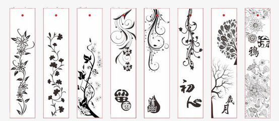 bookmarks  rectangle  book  flower png image and clipart