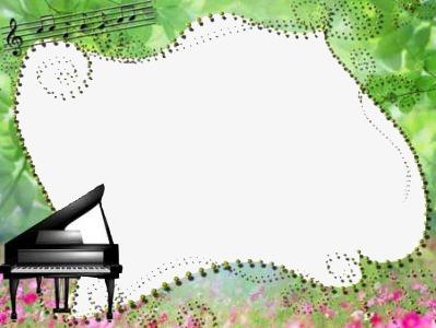 Border Piano Piano Clipart Green Plant Png Image And