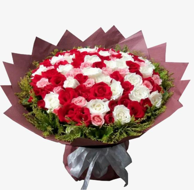 Ramo De Flores Flores Rojas Flores Blancas Regalo Imagen Png Para
