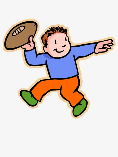 Boy Throwing Football Boy Clipart Football Clipart Movement Png
