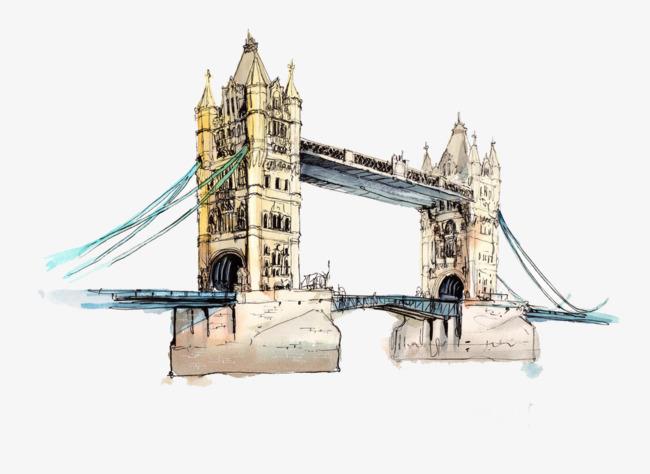 Construcción De Puente Dibujo De Puente Arquitectura Europea Pintado ...