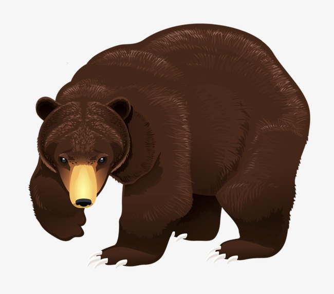brown bear  creative  cartoon  hand painted png