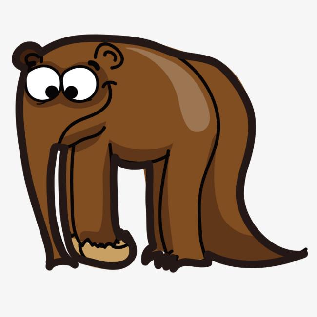 Coklat Kartun Gajah Gambar Coklat Gajah Gajah Kartun Imej Png Dan