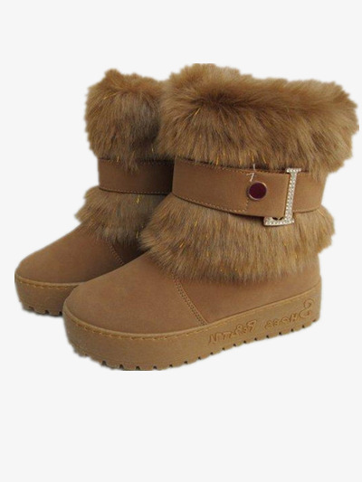 brown snow boots  winter  warm  decoration png image and