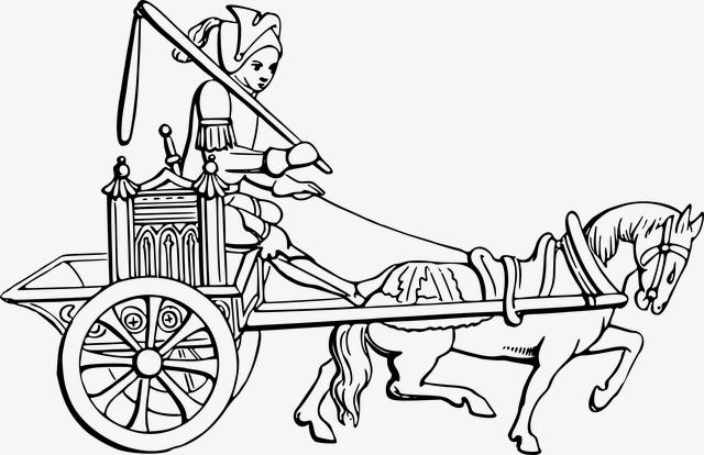 desenhos de cavalos ma a carruagem os png imagem para download gratuito
