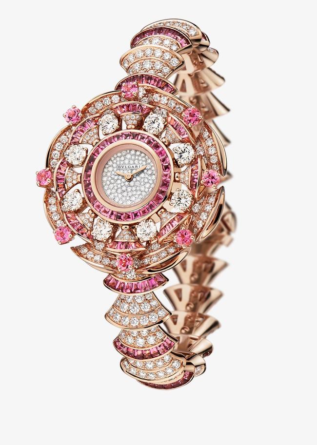 9a71db2ea28 Bvlgari jóias relógio de Pulso relógio de Diamantes cor de Rosa de Ouro EM  pó Grátis PNG e Clipart