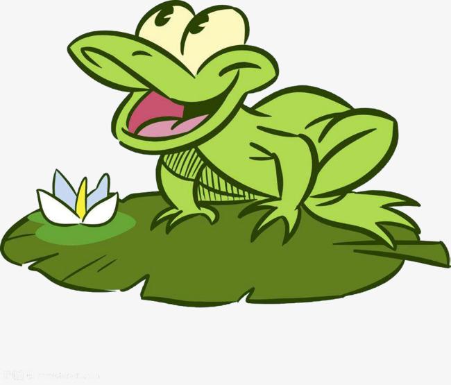 Sur la feuille de lotus crapaud la grenouille dessin de crapaud crapaud image png pour le - Dessin crapaud ...