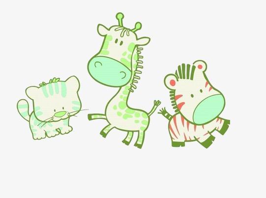 Animales De Dibujos Animados Cartoon Animal Cebras Jirafa