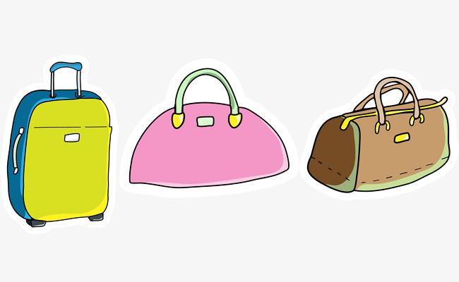 Equipaje De Bolsa Bolso De De Bolsa Paquete Dibujos Mano Animados zpxwTCa7qp