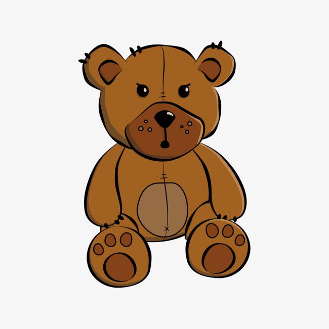 Gambar Kartun Bear Bear Tangan Dicat Teddy Bear Imej Png Dan Clipart